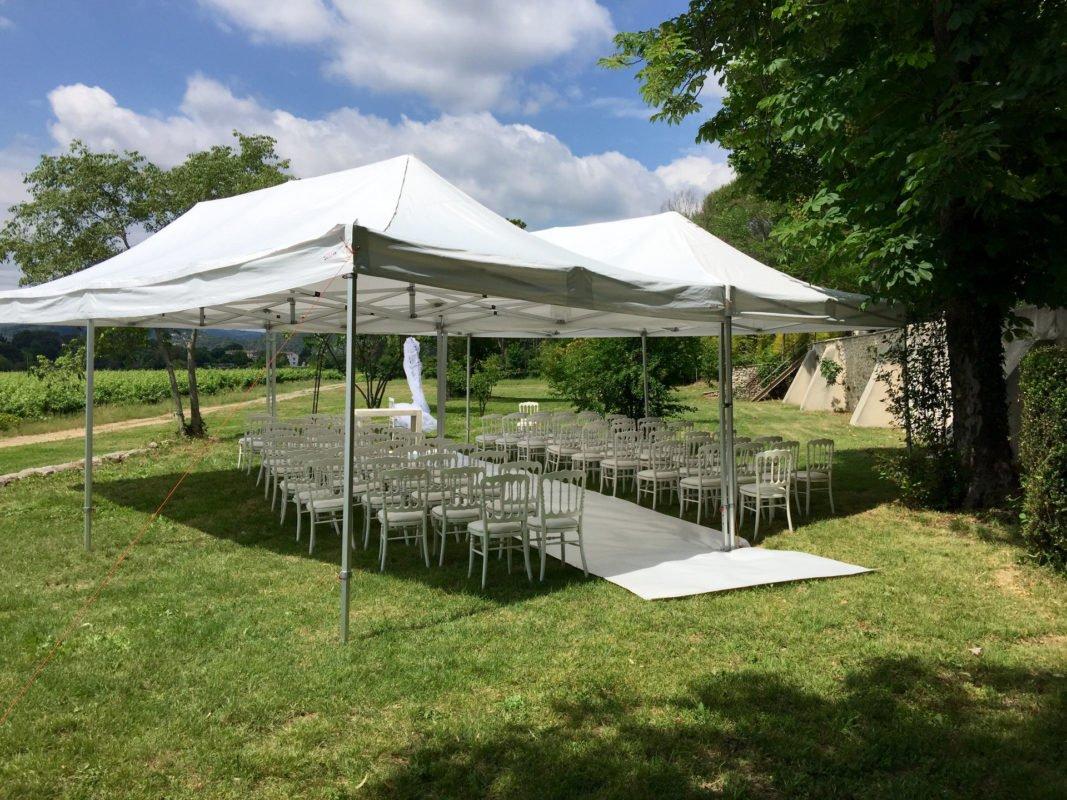 location de barnum pour ceremonie dans le gard et dans l'herault