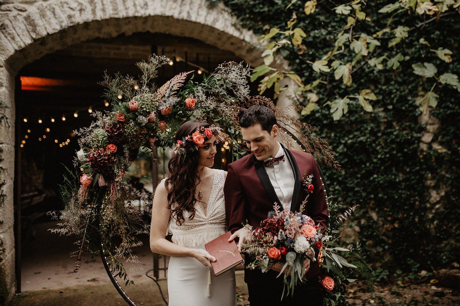 arche cérémonie mariage hérault