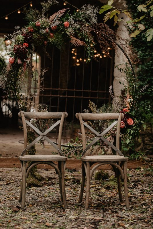 arche chaise bistrot mariage cérémonie