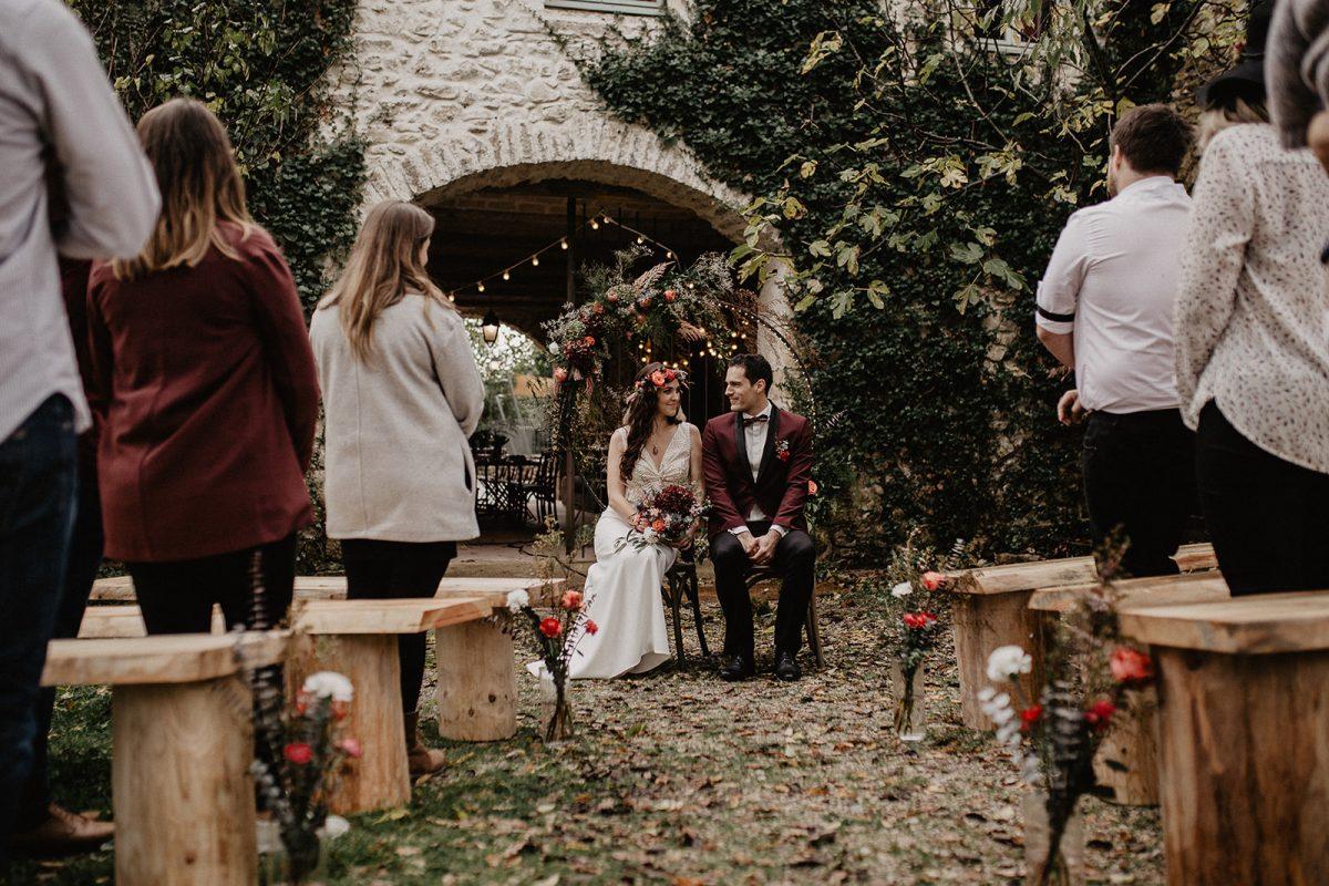 cérémonie banc location mariage