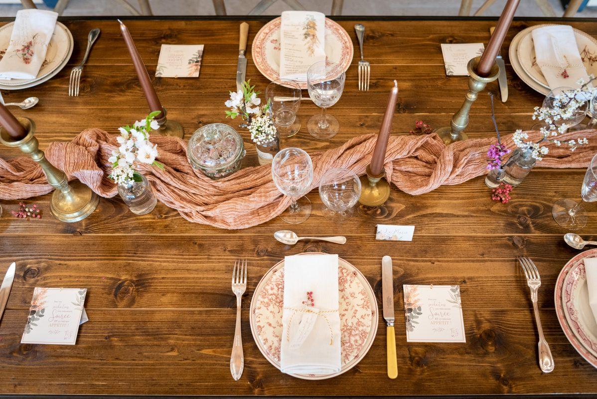 table mariage wood bois location repas réception