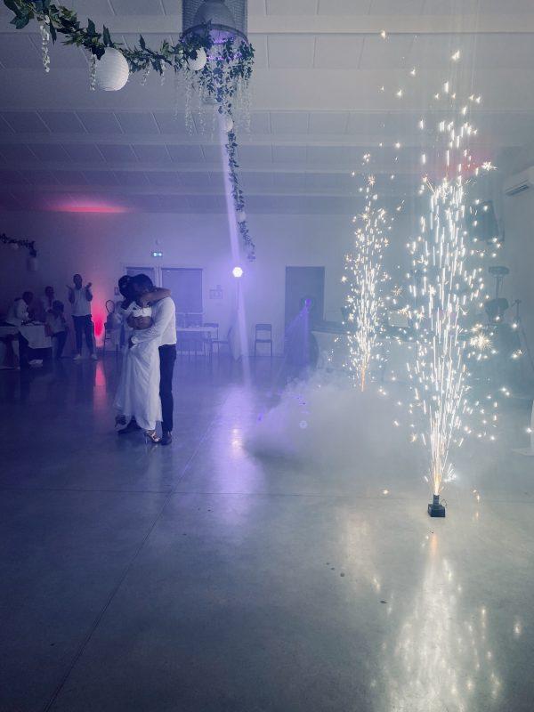 fontaine étincelles feu d'artifice location mariage Herault Gard