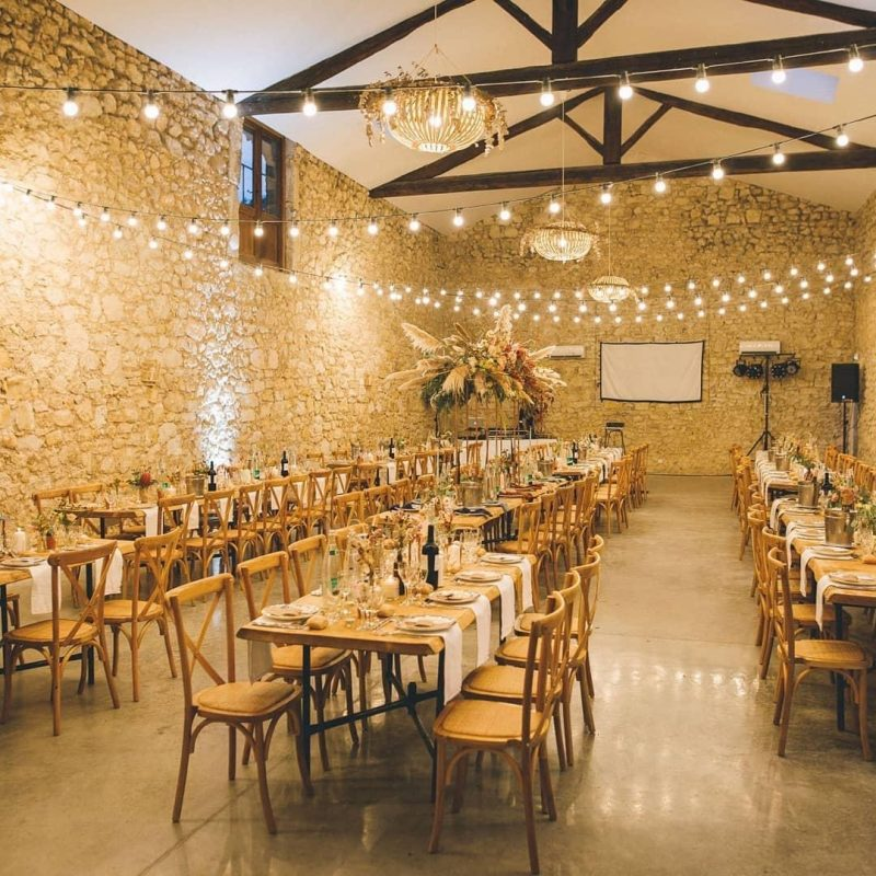 table en bois repas mariage Hérault Domaine réception traiteur