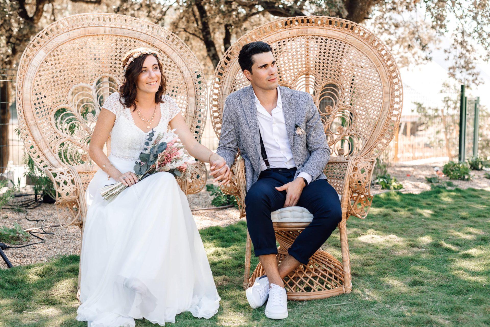 cérémonie fauteuil Emmanuelle location décoration mariage sud de France