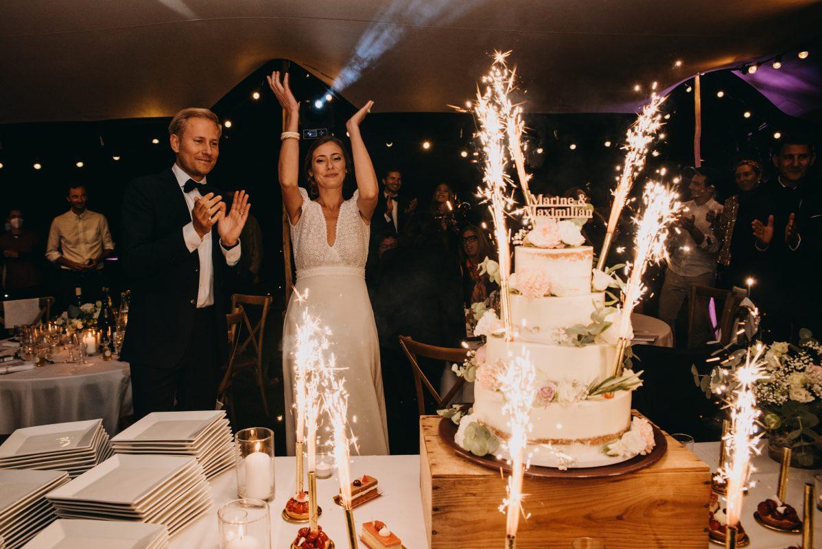 Pièce montée Traiteur mariage South of France tente stretch dessert location Hérault Gard