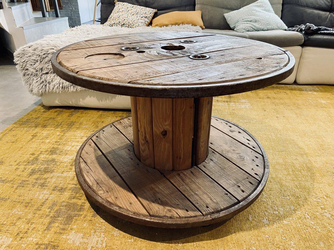 touret bois table basse maison intérieur bohème décoration
